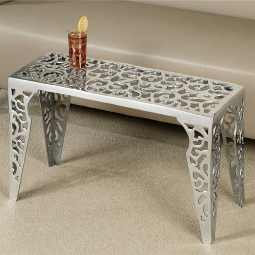 Gabryelle Coffee Table Aluminum
