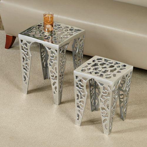 Gabryelle Accent Table Set Aluminum