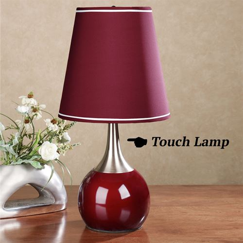 Briley Burgundy Touch Lamp