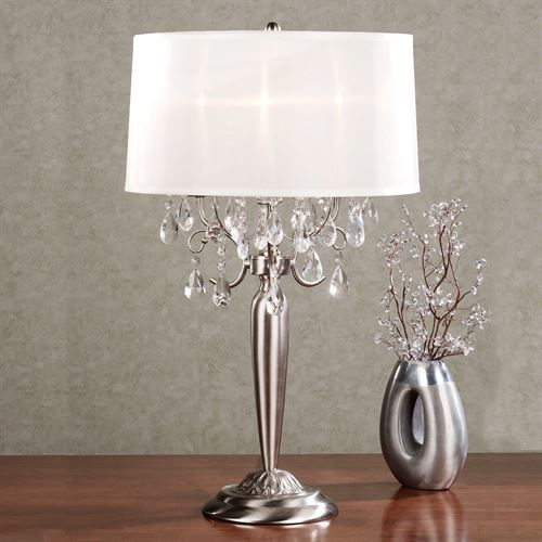 Silver Teardrop Table Lamp
