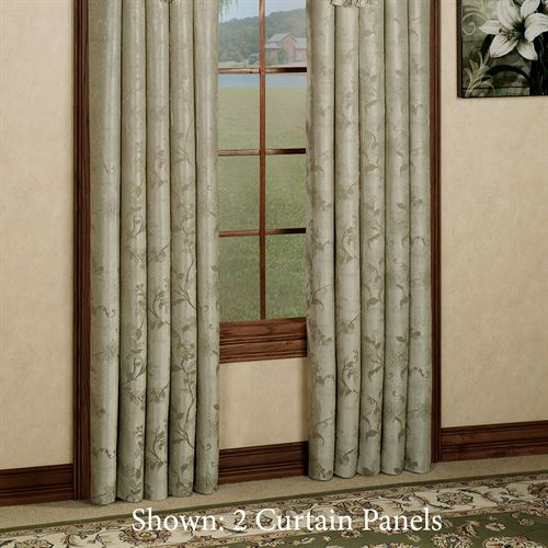 Floral Lustre Tailored Curtain Panel