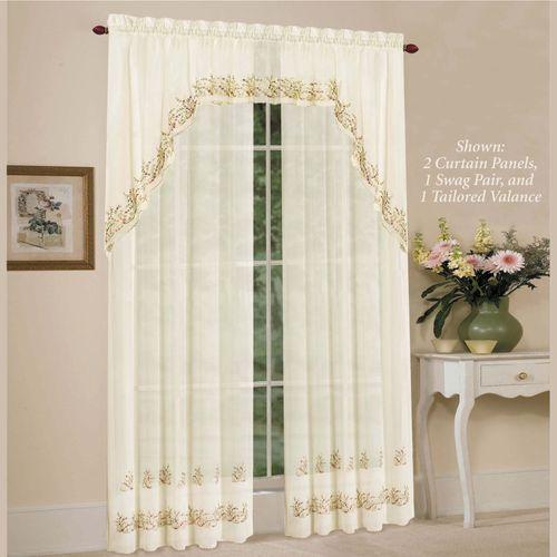 Heather Sheer Curtain Panel Light Cream