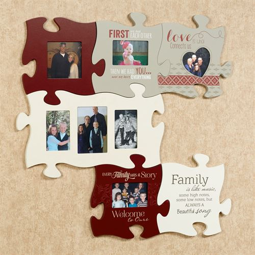 Every Family Quote Photo Frame Burgundy