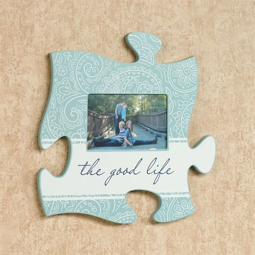 Good Life Quote Photo Frame Spring Green