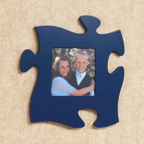 Puzzle Piece Photo Frame Navy
