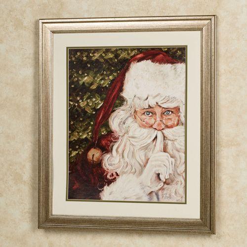 Secret Santa Framed Wall Art Red