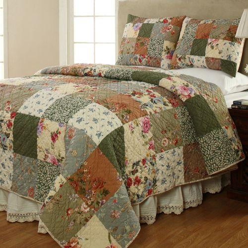 Naomi Patchwork Quilt Set Multi Warm