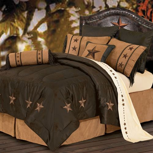 Laredo Comforter Bed Set Chocolate