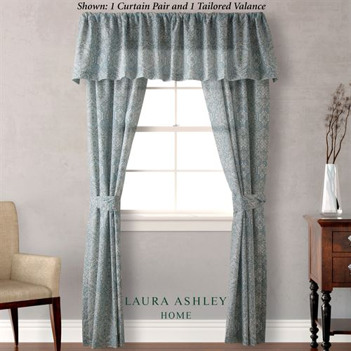 Ardleigh Medallion Window Treatment By Laura Ashley Tailored Curtain Pair Ivory 82 X 84