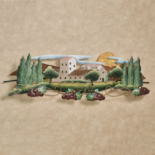 Tuscan Vineyard Wall Sculpture Multi Earth