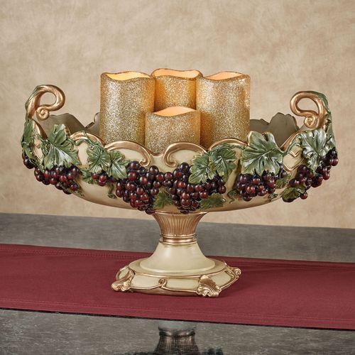 Vigne Elegante Decorative Centerpiece Bowl Dark Red