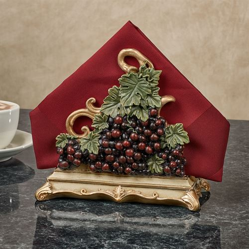 Vigne Elegante Napkin Holder Dark Red