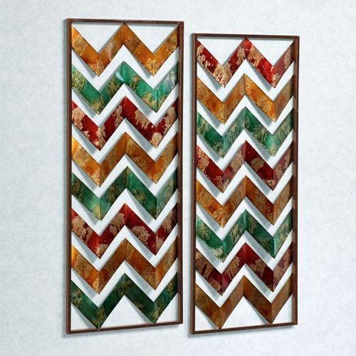 Sunset Glow Wall Panel Set Multi Jewel Set of Two