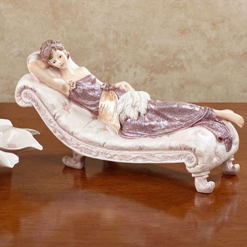 Belle Dame Figurine Mauve