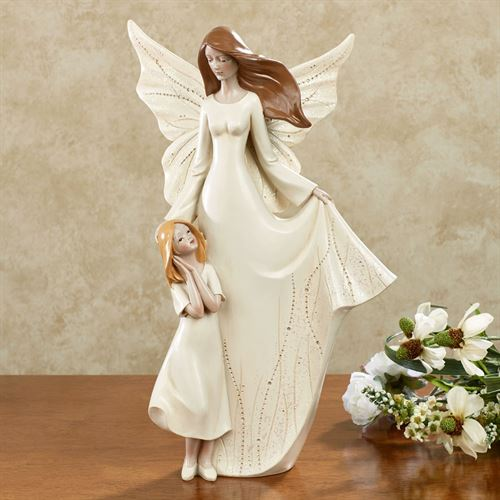 On Angels Wings Guardian Angel Figurine