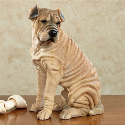 Jenner Pup Chinese Shar Pei Dog Sculpture