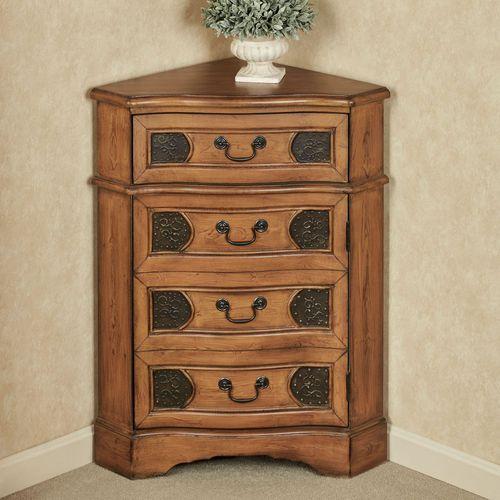 Cadiz Corner Accent Cabinet Honey Maple