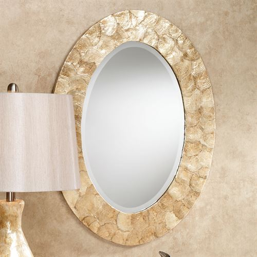 Akasha Oval Wall Mirror Natural