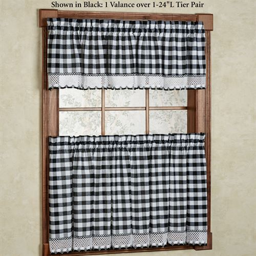 Buffalo Check Tier Window Treatment