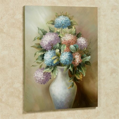Charlottes Bouquet Canvas Wall Art Multi Pastel
