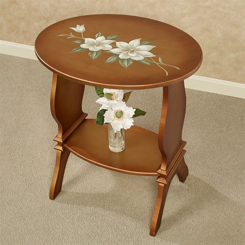 Titian Oval Accent Table Copper