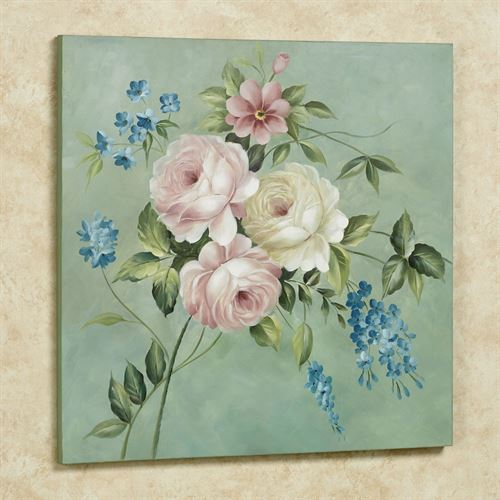 Rose Opulence Canvas Wall Art Multi Pastel