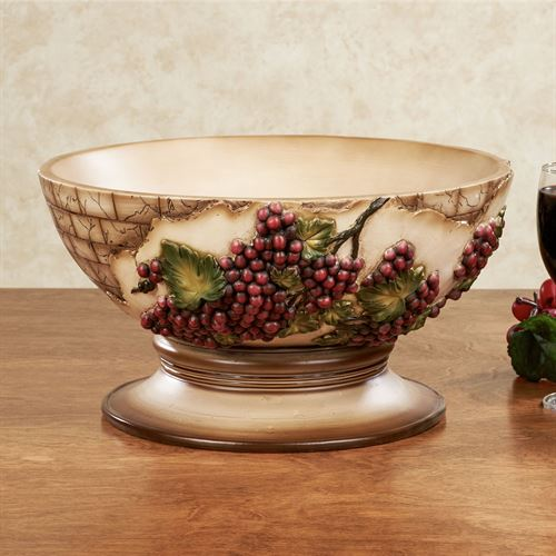 Vino Italiano Decorative Centerpiece Bowl Multi Earth