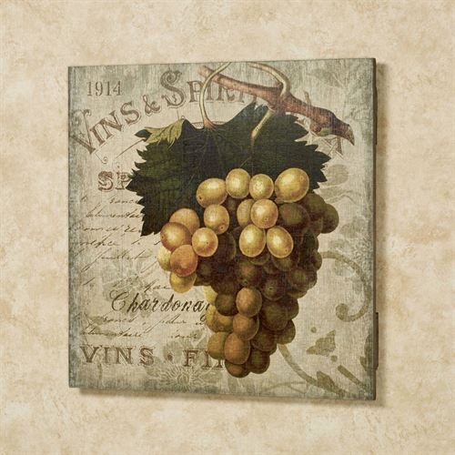 Vintage Wine I Wall Sign Multi Warm