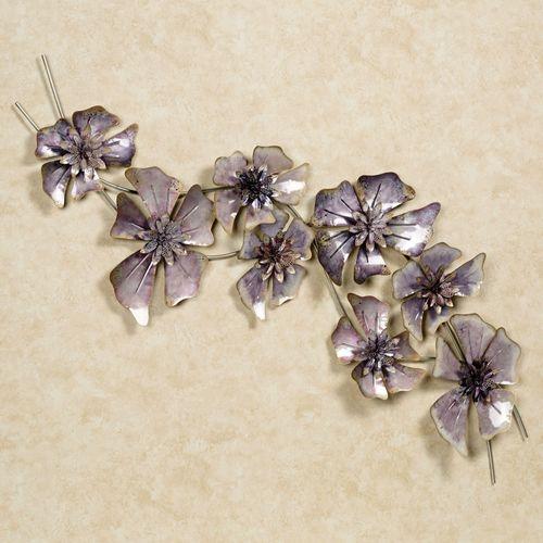 Floral Waltz Wall Sculpture Purple