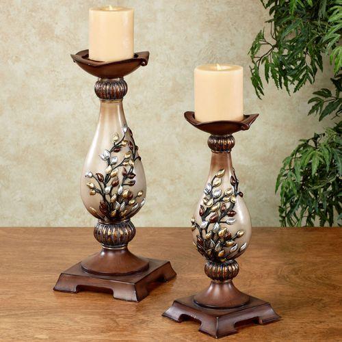 Golden Sunrise Candleholder Set Multi Metallic Set of Two