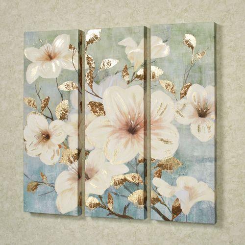 Bursting Beauties Canvas Triptych Multi Cool Set of Three
