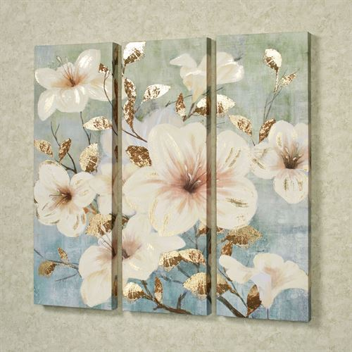 Bursting Beauties Canvas Triptych Multi Cool Set of Three