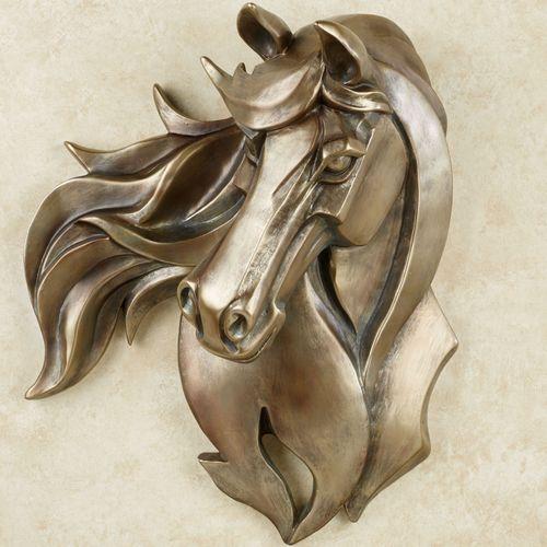 Kindred Spirit Horse Wall Art Golden Bronze