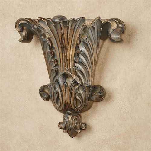 Acantha Wall Pocket Vase Weathered Bronze