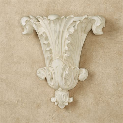 Acantha Wall Pocket Vase Antique White