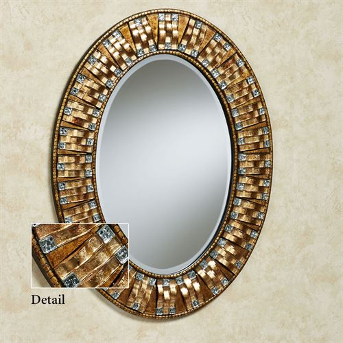 Maybelle Mosaic Wall Mirror Aged Gold