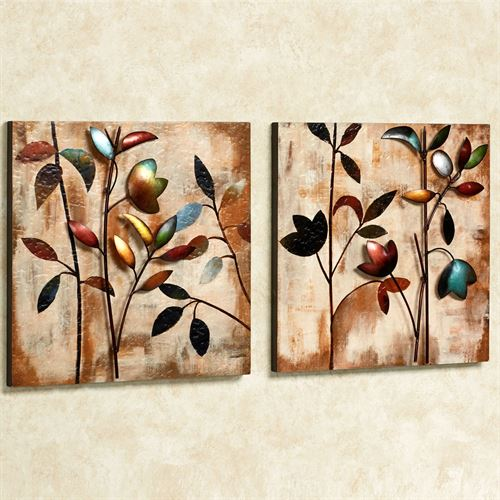 Watercolor Forest Wall Art Set Multi Jewel Set of Two