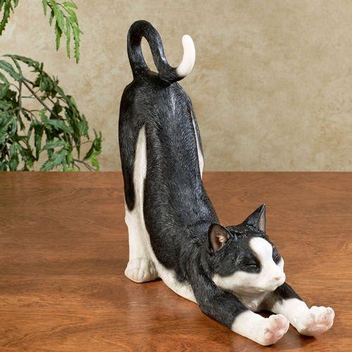 Sox Cat Sculpture Black/White