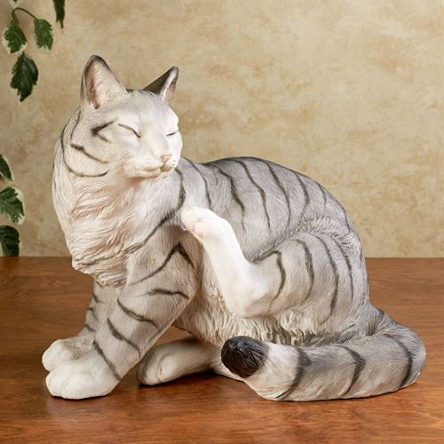 Merlin Cat Sculpture Gray