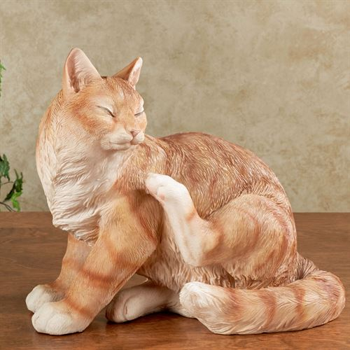 Merlin Cat Sculpture Orange