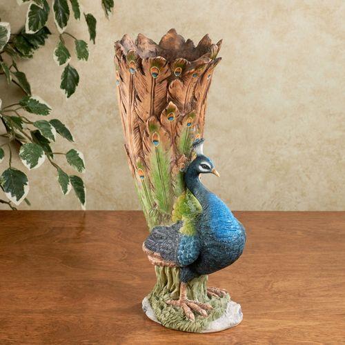 Janett Peacock Vase Multi Jewel