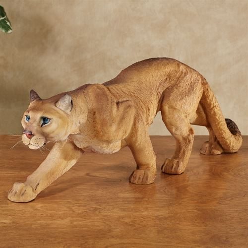Mountain Lion Table Sculpture Autumn Gold