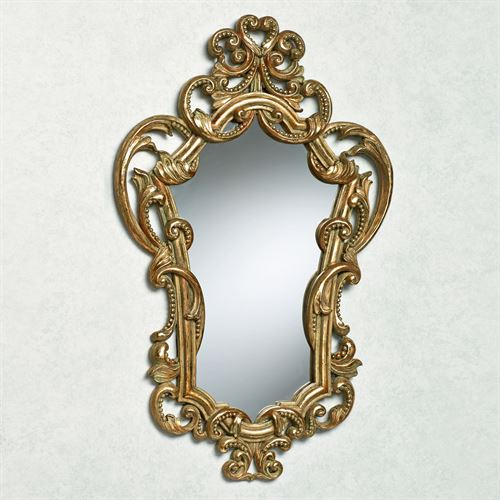 Kathleen Scroll Wall Mirror Verdi Gold