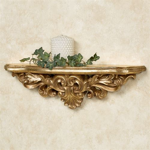 Elisa Wall Shelf Baroque Gold