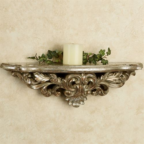 Elisa Wall Shelf Silver with Gold