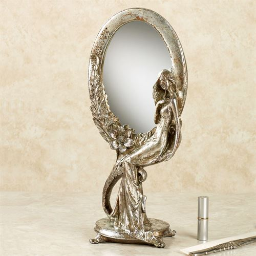 Jacqueline Vanity Mirror Silver with Gold