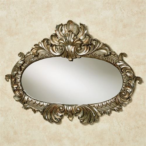 Bridgette Wall Mirror Silver with Gold