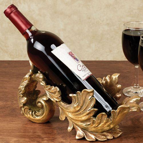 Frazier Wine Bottle Holder Baroque Gold