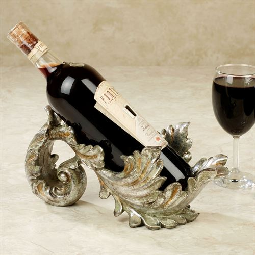Frazier Wine Bottle Holder Silver with Gold