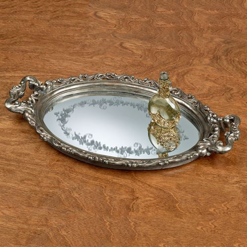Marjorie Vanity Tray Aged Silver